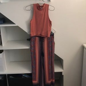 Charlotte Russe pants with sleeves tank top.